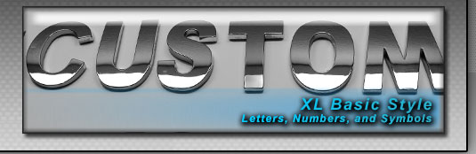 xl style chrome letters