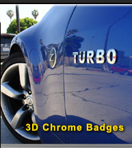 3D Chrome Letter Badges