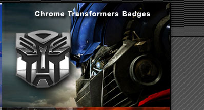 Transformers Autobot 3D Chrome Badge Emblem