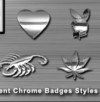 Various Chrome Badge Emblems