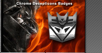 Transformers Decepticon 3D Chrome Badge Emblem