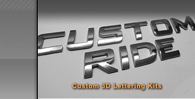 3d chrome letter kit